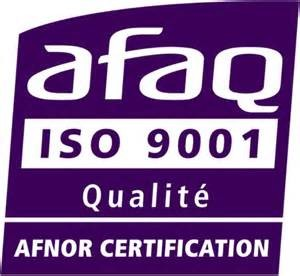 logo de certification ISO 9001 AFNOR AFAQ