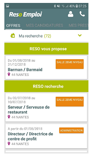 pages offres appli mobile reso emploi